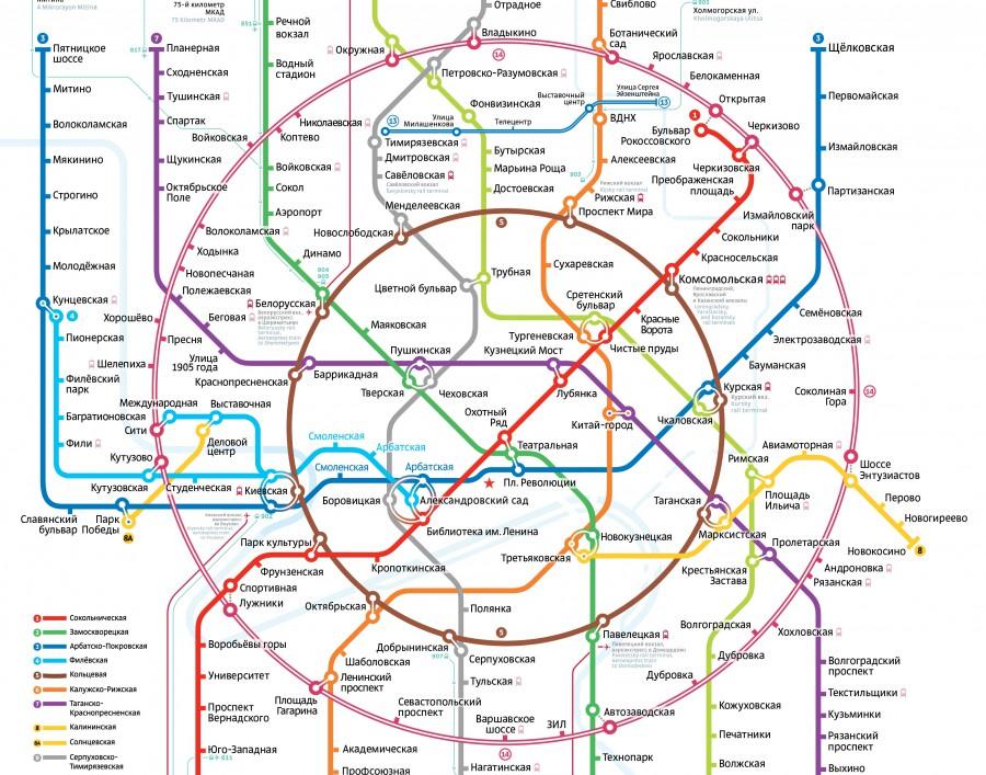 Схема московского метро с мкжд фото 651