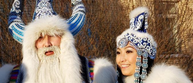 Повелитель холода Чысхаан и якутская снегурочка Хаарчаана. Источник: Фотобанк Лори. Strana.Ru