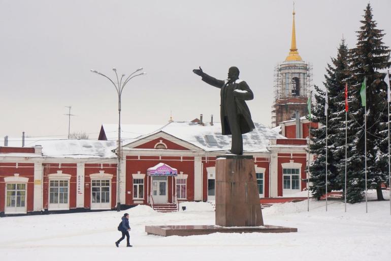 Центральная площадь Ельца. Фото: Игорь Стомахин / Strana.ru. Strana.Ru