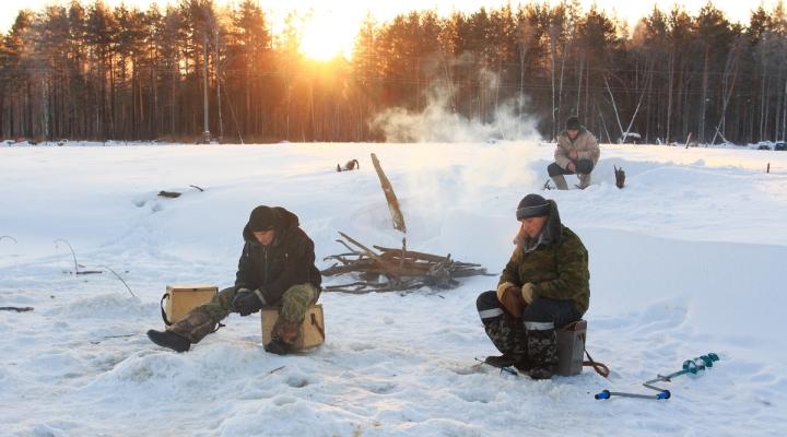 Зимний отдых с рыбалкой в подмосковье